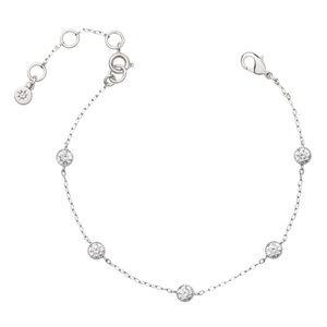 Petits Bijoux Station Bracelet- Silver